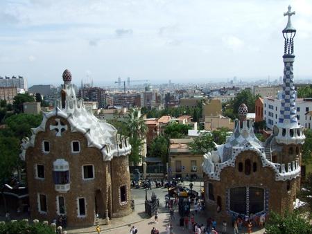 Barcelona, Spain - September 1st, 2011: Parc Guell in Barcelona, Spain