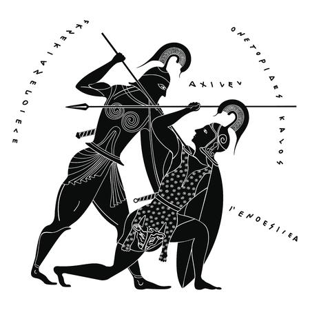 Illustration pour Vector Greek drawing. - image libre de droit