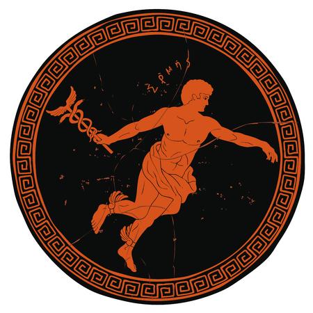 Illustration pour Ancient Greek god Hermes. - image libre de droit