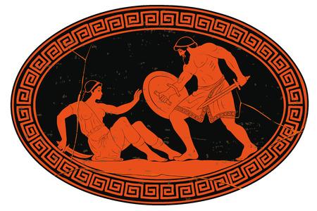 Illustration pour 12 exploits of Hercules. - image libre de droit
