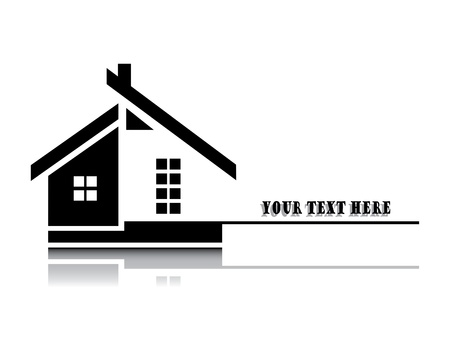 illustration of home on white background