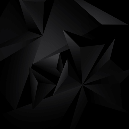 Photo pour Abstract black background with geometric figures - image libre de droit
