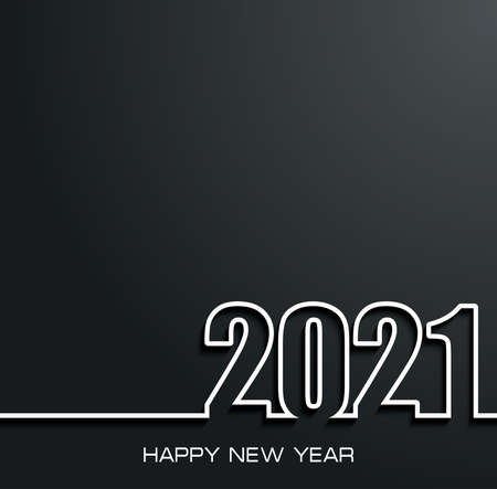 Illustration pour 2021 Happy New Year background for your greeting card - image libre de droit
