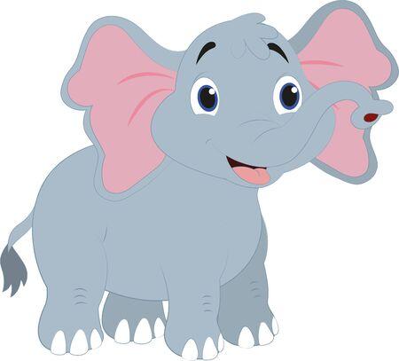 Illustration pour Cartoon Elephant. Vector Elephant - image libre de droit