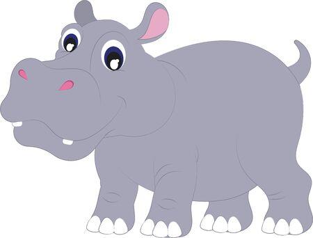 Ilustración de Cartoon Hippopotamus. Vector Hippopotamus - Imagen libre de derechos