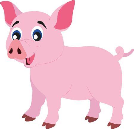 Photo pour Clipart Vector Pig - image libre de droit