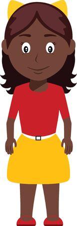 Ilustración de Cute Young Black Girl - Imagen libre de derechos