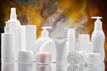big set of skincare items