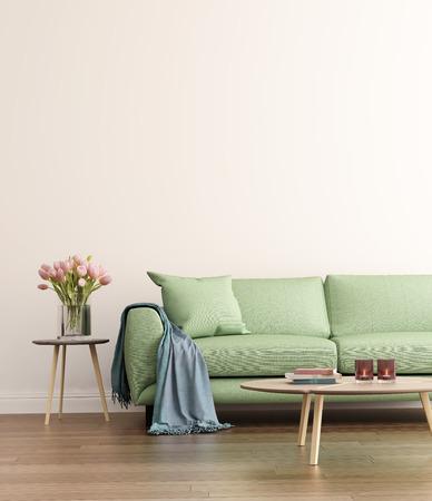 Photo pour Contemporary green living room - image libre de droit