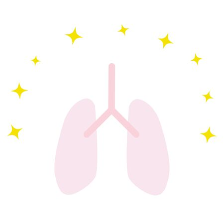 This is an illustration of a healthy lung. Vector image.
