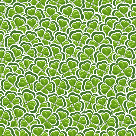 Vector Seamless Pattern Clover For St Patricks Day Green