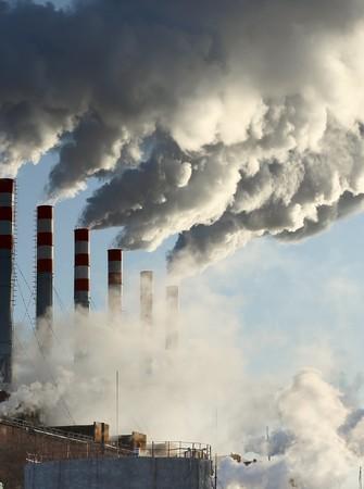 Power plant with smoke