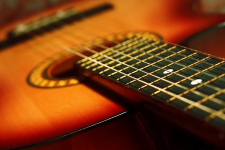 Photo pour Acoustic guitar - image libre de droit