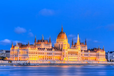 House of the Country or House of the Nation - Hungarian Parliament Building in Budapest