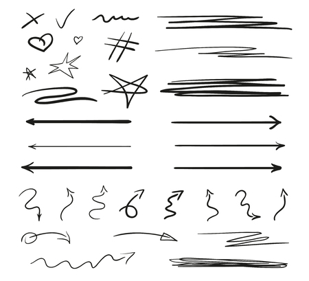 Illustration for Infographic elements on isolation background. Backgrounds with array of lines on white. Intricate chaotic textures. Hand drawn tangled patterns. Black and white illustration - Royalty Free Image