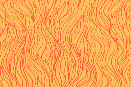 Colorful wavy background. Hand drawn waves. Stripe tangled texture with many lines. Waved pattern. Colored illustration for design