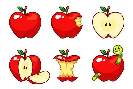 Ilustración de Red Apples - Imagen libre de derechos