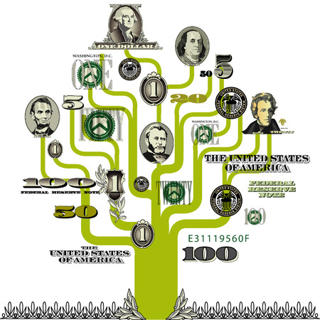 Vector money tree