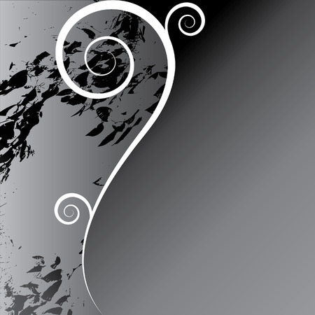 Elegant floral design with curves and space for text