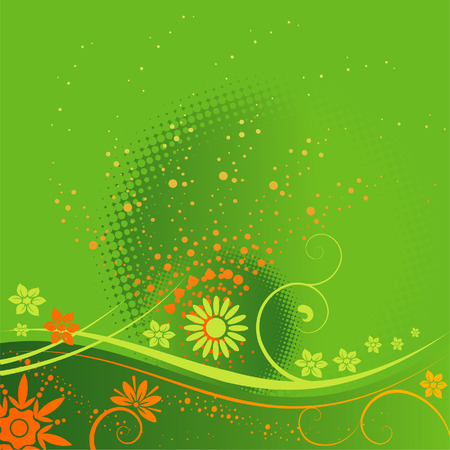 Elegant floral design with curves. Also available in vector format.