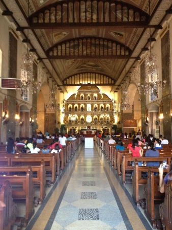 The basilica of sto nino in cebu city.