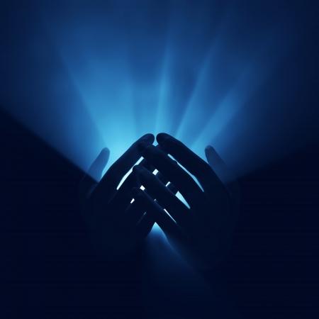 light in hands, magic energy