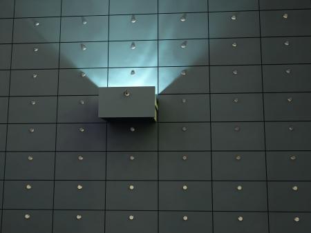 Photo pour glowing cell in safety deposit box - image libre de droit
