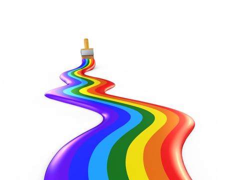 rainbow trail of paints