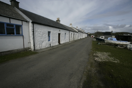 Arinagour village on  Coll in the Hebrides,