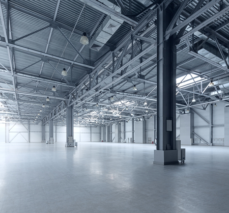 Photo for Interior of empty warehouse - Royalty Free Image