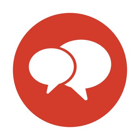 Illustration pour Conversation concept icon vector design - image libre de droit