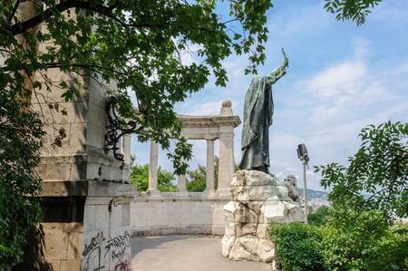 Statue of St. Gerard Sagredo in Budapest, one of three patron saints of Hungary