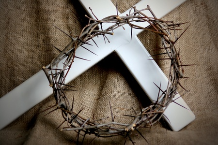 A crown of thorns and a cross