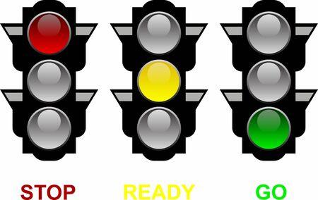 Illustration for Traffic Lights - Royalty Free Image