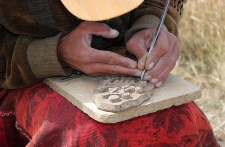 Manual Worker in Sevan,Armenia.