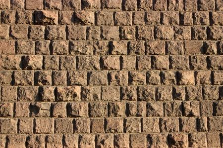 Old stone wall texture of tuff,Armenia.