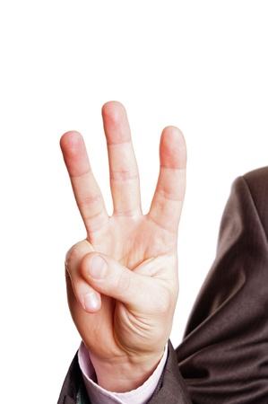 three finger sign