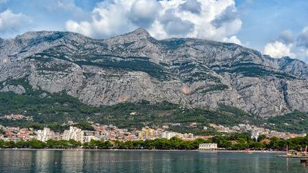 Photo for Beautiful view of the beach and mountains of Makarska. Dalmatia, Croatia. - Royalty Free Image