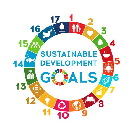 Illustration for Sustainable Development Global Goals. Corporate social responsibility. - Royalty Free Image