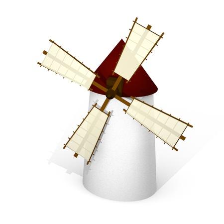 Traditional Spanish windmill