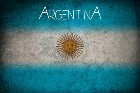 Argentine flag, grunge style
