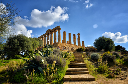 Photo for The Valley of the Temples is an archaeological site in Agrigento, Sicily, Italy. It is one of the most outstanding examples of Greater Greece art and architecture. - Royalty Free Image