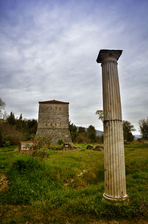 Foto de Butrint is the Albania's major archaeological centers and is protected . The ancient town has been built on Ksamil Peninsula - Imagen libre de derechos