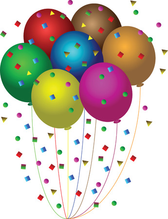 balloons confetti