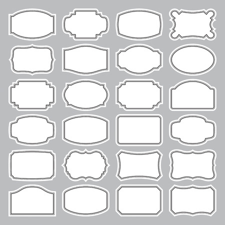 24 blank labels set