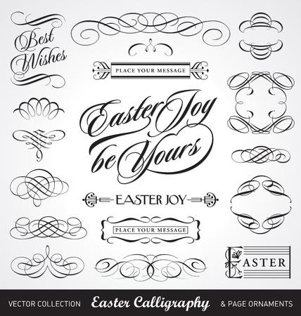 Illustration pour easter calligraphy set (vector) - image libre de droit