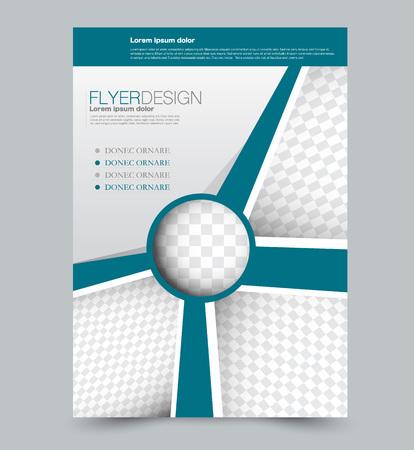 Illustration pour Blue business flyer. a4 pribtable poster. Vector illustration. - image libre de droit
