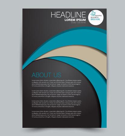 Illustration pour Flyer template. Design for a business, education, advertisement brochure, poster or pamphlet. Vector illustration. Black and blue color. - image libre de droit