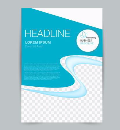 Illustration pour Flyer template. Design for a business, education, advertisement brochure, poster or pamphlet. Vector illustration. Blue color. - image libre de droit