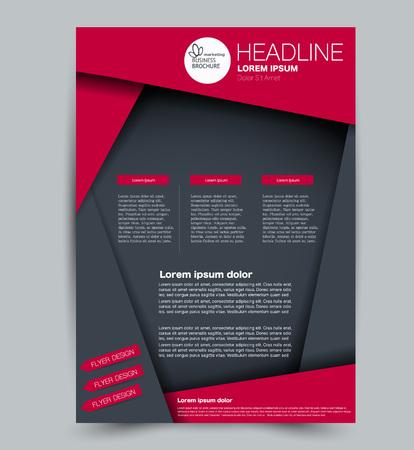 Illustration pour Flyer template. Design for a business, education, advertisement brochure, poster or pamphlet. Vector illustration. Grey and red color. - image libre de droit